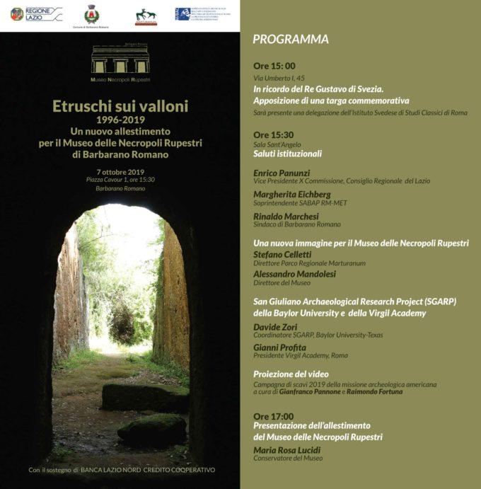 Un nuovo allestimento per il Museo delle Necropoli Rupestri di Barbarano Romano