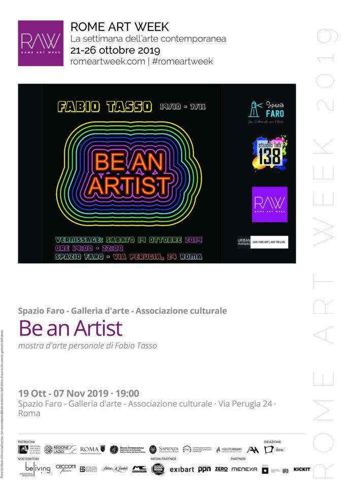 """""""Be an artist"""" mostra personale di Fabio Tasso"""
