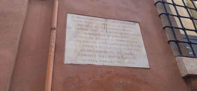 """Alcuni Editti romani """"mondezzari""""."""