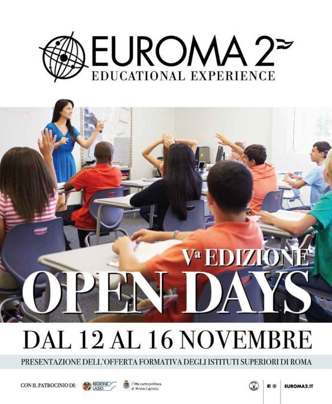 GRANDE SUCCESSO PER LA  V  EDIZIONE DEGLI  OPEN DAYS A EUROMA2