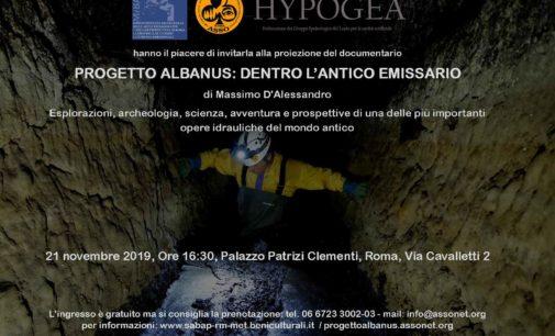 """""""PROGETTO ALBANUS: DENTRO L'ANTICO EMISSARIO"""""""