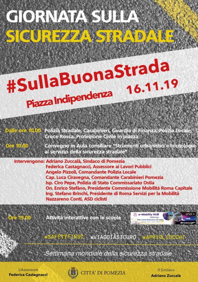 Si svolgerà sabato 16 novembre prossimo la Giornata sulla sicurezza stradale a Pomezia