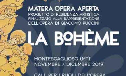 MATERA OPERA APERTA, call per tutti i ruoli della Bohème di Puccini