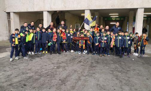 Football Club Frascati, quaranta bambini della Scuola calcio all'Olimpico per la partita della Roma
