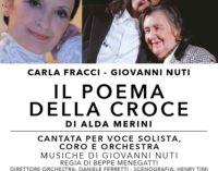 """Carla FRACCI e Giovanni NUTI  nel """"POEMA DELLA CROCE""""  di Alda MERINI"""