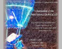 Luminarie con materiale di riciclo