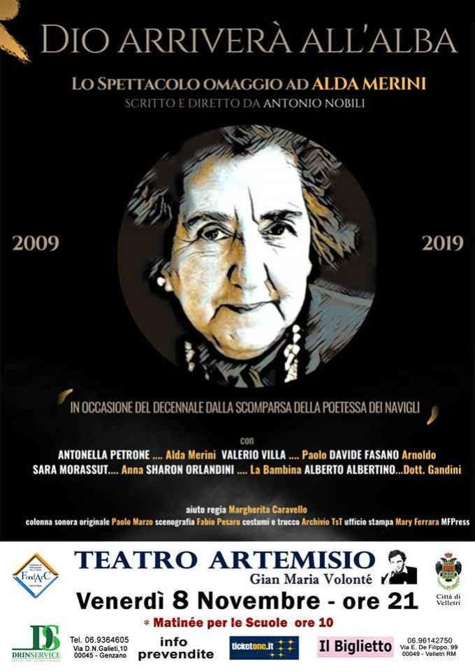 """Dieci anni senza la poetessa dei Navigli. Al Teatro Artemisio-Volonté """"Dio arriverà all'alba"""""""