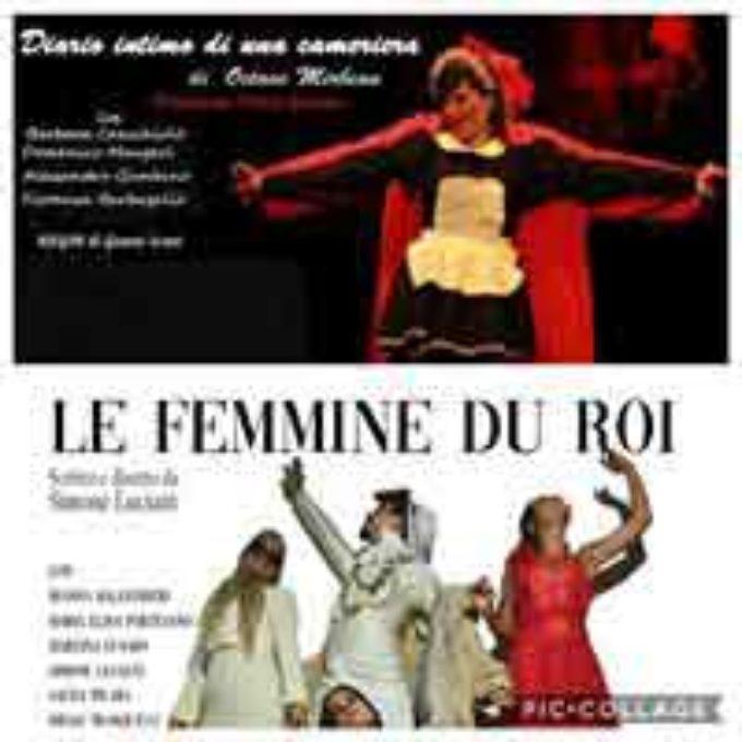 Teatro Civico di Rocca di Papa, in scena due spettacoli: Le femmine du Roi e Diario intimo di una cameriera