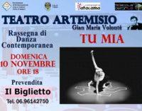 """Con """"Tu mia"""" torna la danza contemporanea al Teatro Artemisio-Volonté di Velletri"""