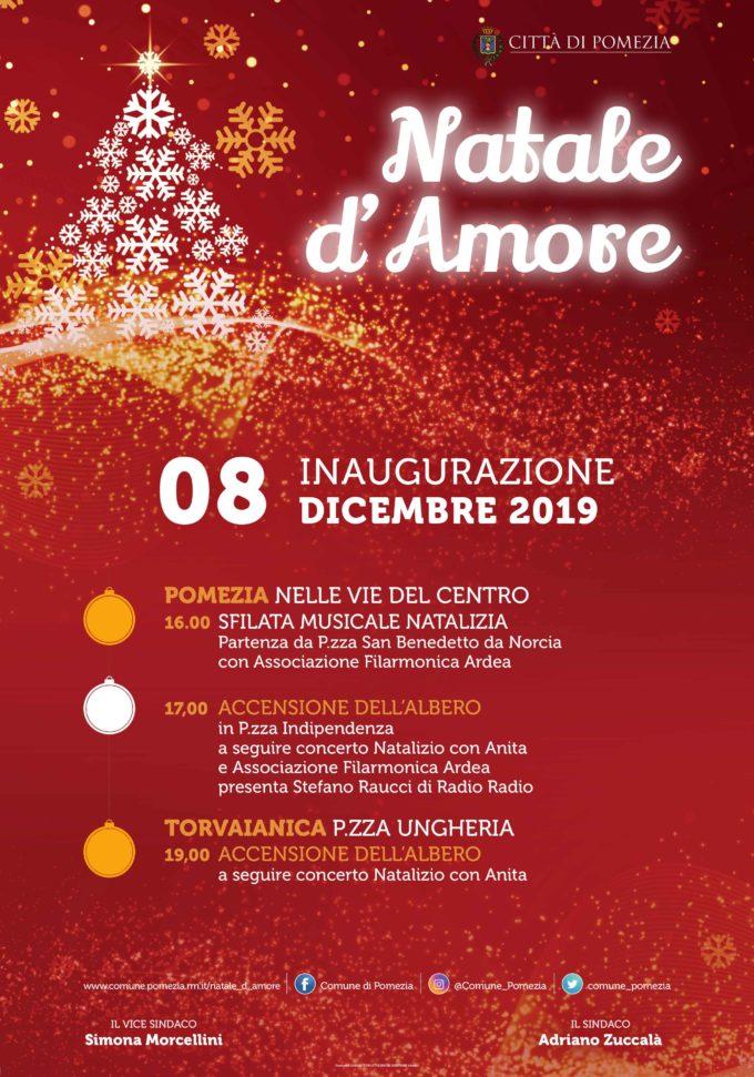 Pomezia – Natale d'Amore, al via i festeggiamenti in Città