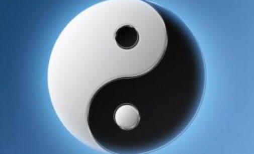 Arte: Opposti Complementari, lo Yin e lo Yang in cornice 9″