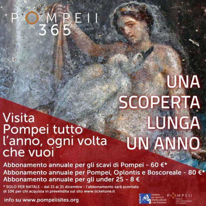 Arriva POMPEI 365  L'abbonamento per visitare Pompei ogni volta che vuoi