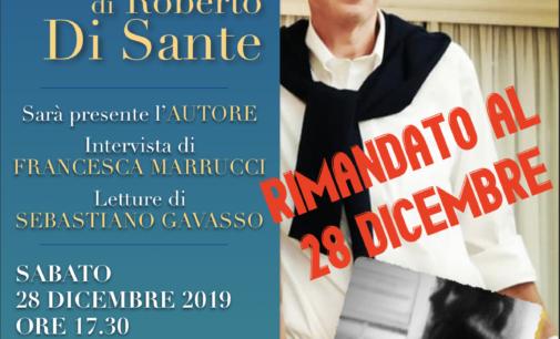 Marino: torna Roberto Di Sante a presentare il libro 'Tre' a Punto a Capo Onlus