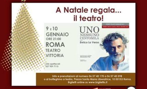 """A NATALE REGALA IL TEATRO """"UNO NESSUNO CENTOMILA"""" CON ENRICO LO VERSO VA IN SCENA A ROMA"""