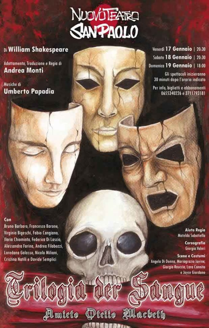 Nuovo Teatro San Paolo – TRILOGIA DER SANGUE venerdì 17 sabato 18 e domenica 19 gennaio