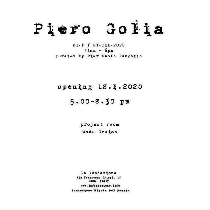 La Fondazione, Roma | Piero Golia | opening sabato 18 gennaio 2020