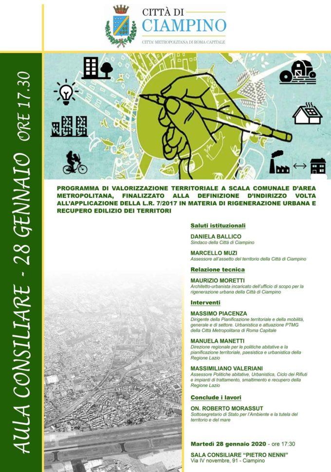 Incontro pubblico rigenerazione urbana Comune di Ciampino