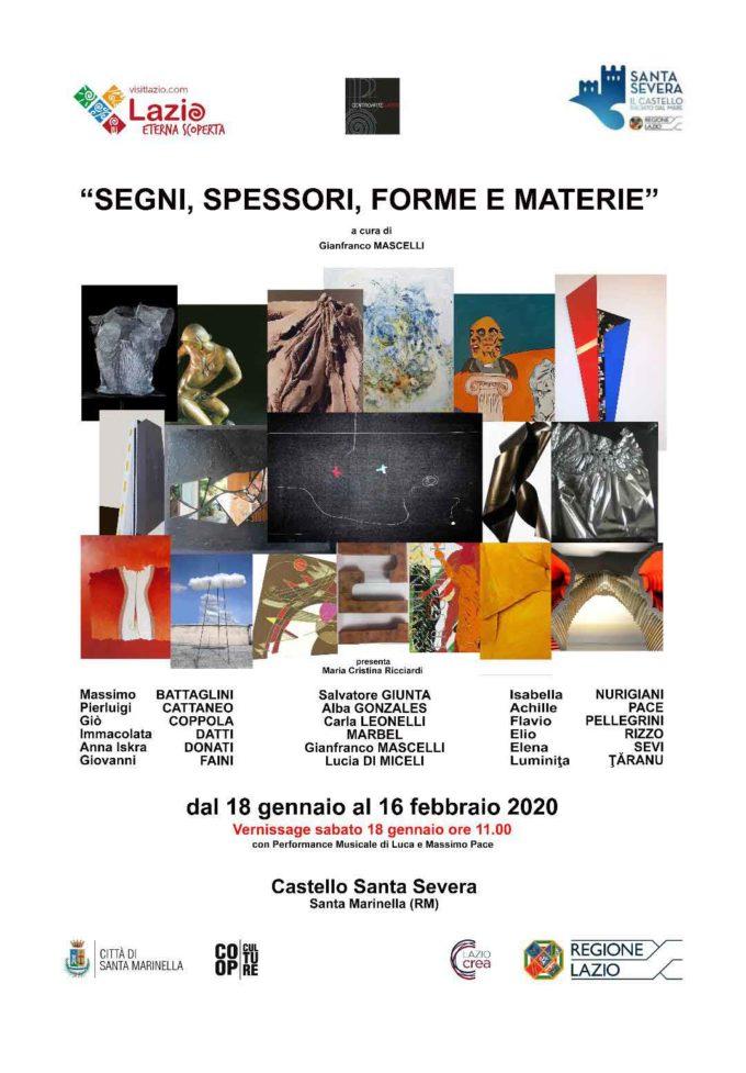 """Castello di Santa Severa – """"SEGNI, SPESSORI, FORME E MATERIE"""""""