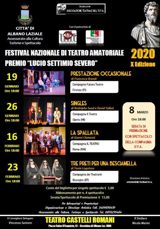 Albano Laziale, al via la X edizione del Festival Nazionale di Teatro Amatoriale