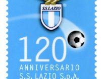 POSTE ITALIANE: EMISSIONE FRANCOBOLLO 120 ANNI S.S. LAZIO