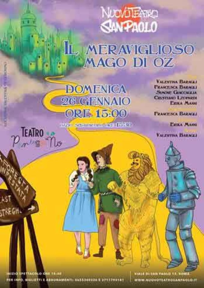 Nuovo Teatro San Paolo – IL MERAVIGLIOSO MAGO DI OZ