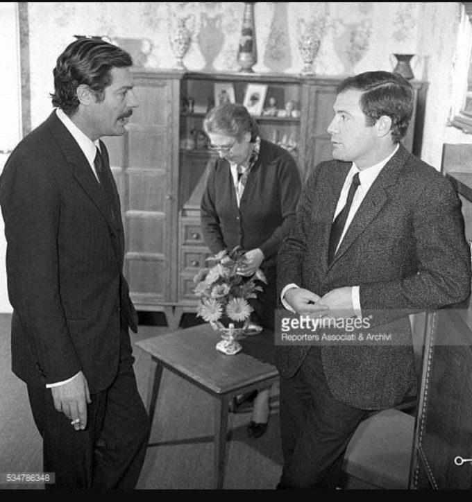 Centenario della nascita di Federico Fellini RUGGERO MASTROIANNI E FELLINI