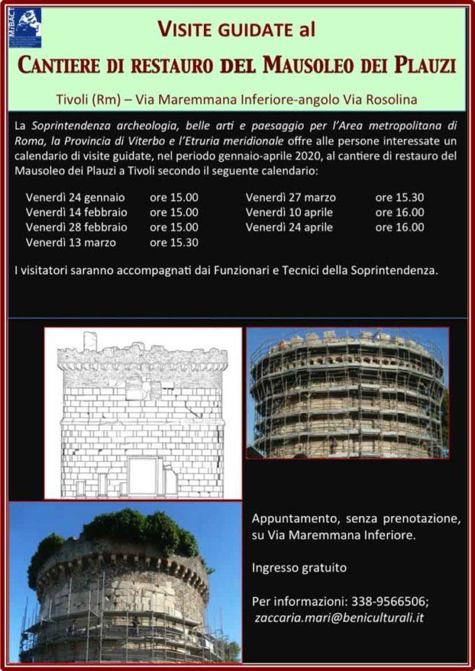 Tivoli – Visite guidate al cantiere di restaurodel Mausoleo dei Plauzi