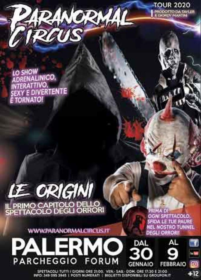 Palermo: il grande ritorno del Paranormal Circus
