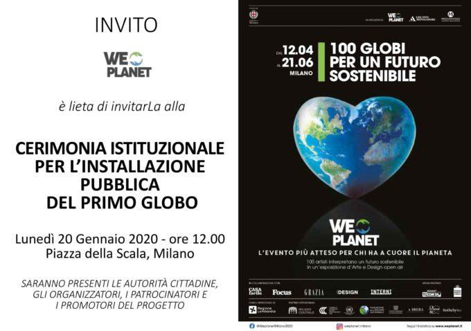 """""""WePlanet: 100 Globi per un futuro sostenibile"""""""