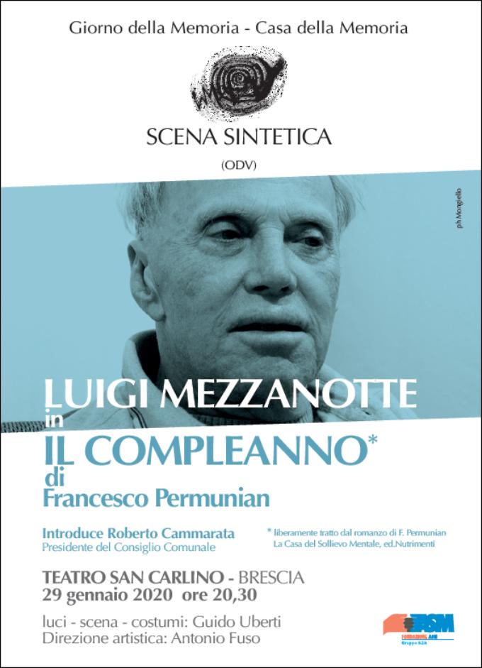 """Luigi Mezzanotte interpreta """"Il compleanno"""" di F. Permunian"""