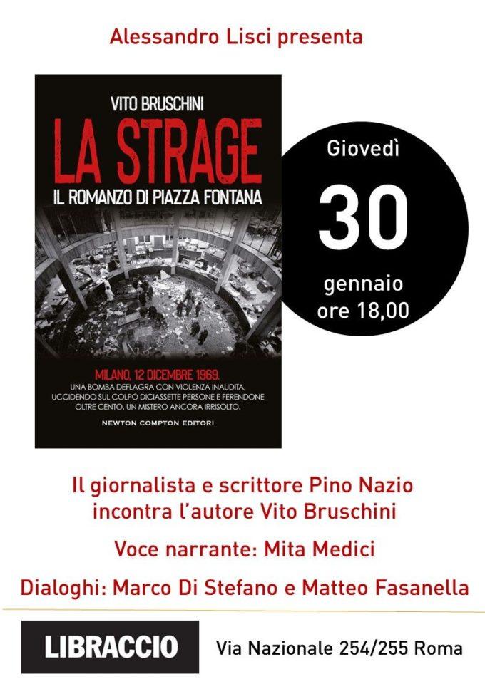 """""""La strage, il romanzo di Piazza Fontana"""" di Vito Bruschini al Libraccio"""