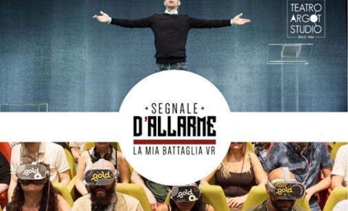 """Elio Germano in """"Segnale d'allarme – La mia Battaglia VR"""" al Teatro Argot Studio di Roma"""