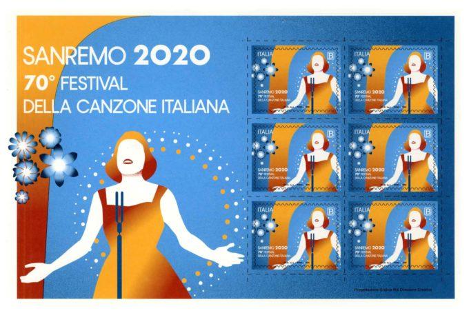 POSTE ITALIANE: EMESSO FRANCOBOLLO DEDICATO AL FESTIVAL DI SANREMO