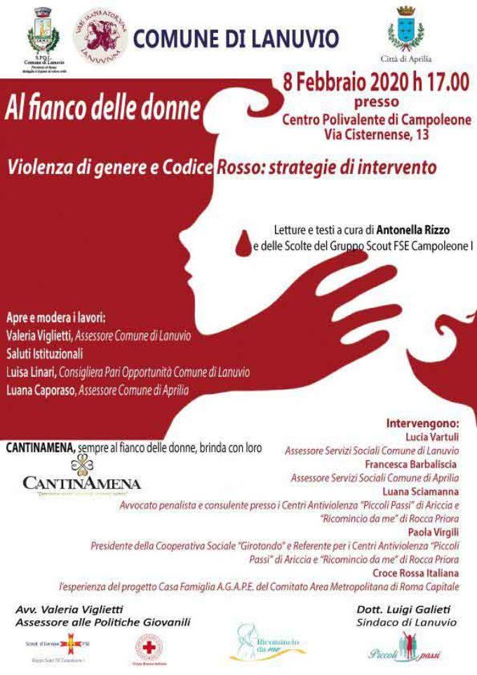 Lanuvio, Al fianco delle Donne : sabato un convegno a Campoleone