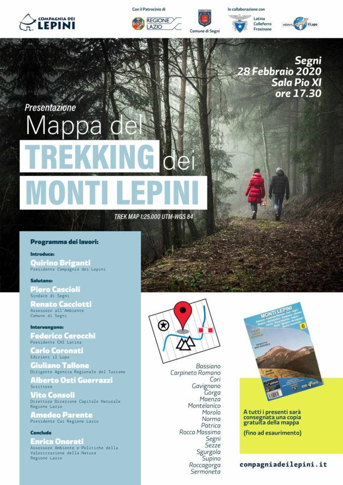 Domani a Segni la presentazione della Mappa del Trekking dei Monti Lepini