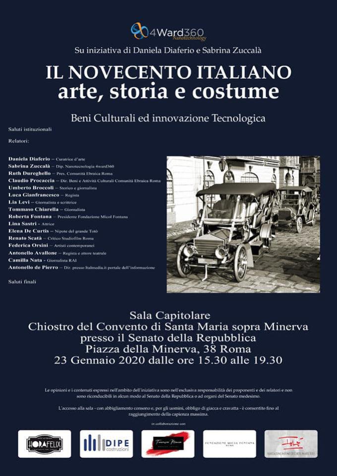Il Novecento italiano: un viaggio virtuale  nell'arte , nella storia e nel costume