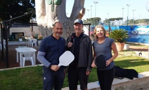 Tc New Country Frascati (tennis), turisti americani fanno tappa al circolo per giocare a pickleball