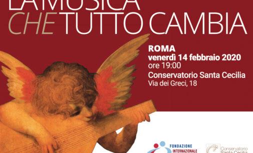 """""""La musica che tutto cambia"""" – 14 febbraio 2020 Conservatorio di Santa Cecilia"""