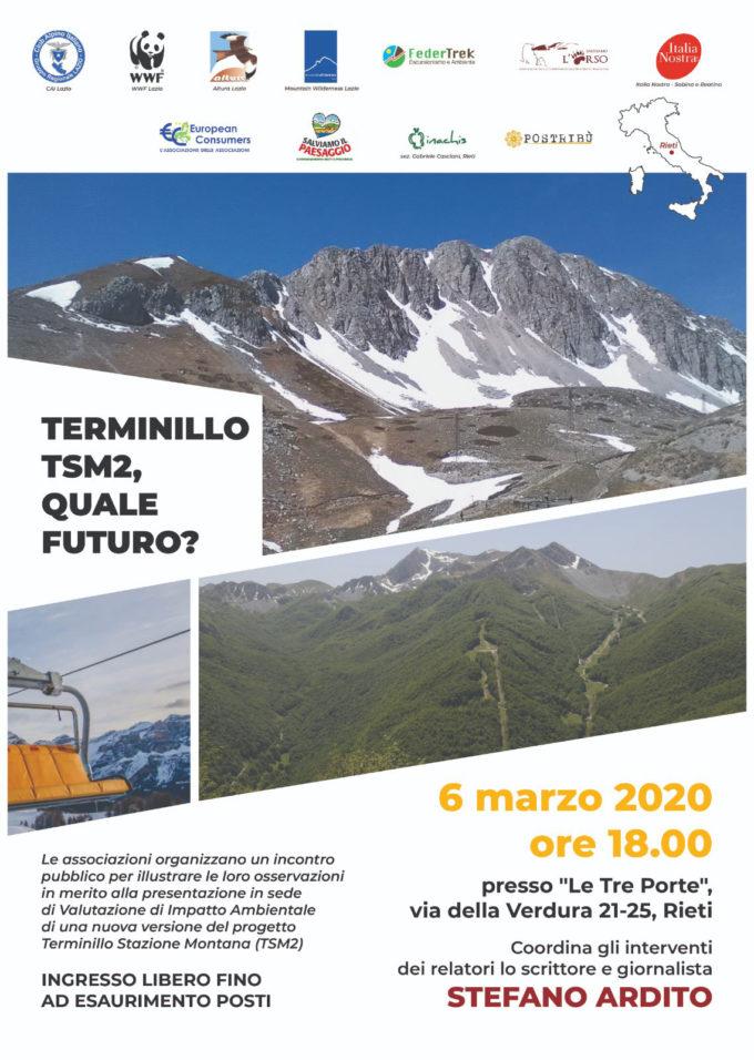 TSM2: il 6 marzo a Rieti presentazione delle osservazioni al progetto
