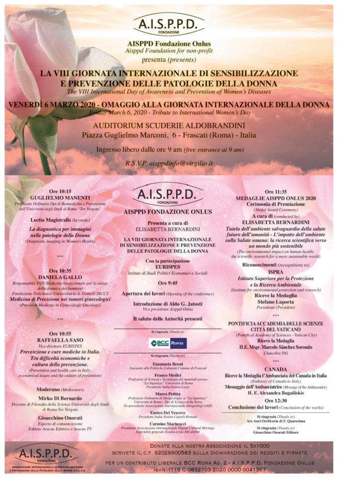 Frascati – VIII Giornata internazionale di sensibilizzazione e prevenzione patologie della donna