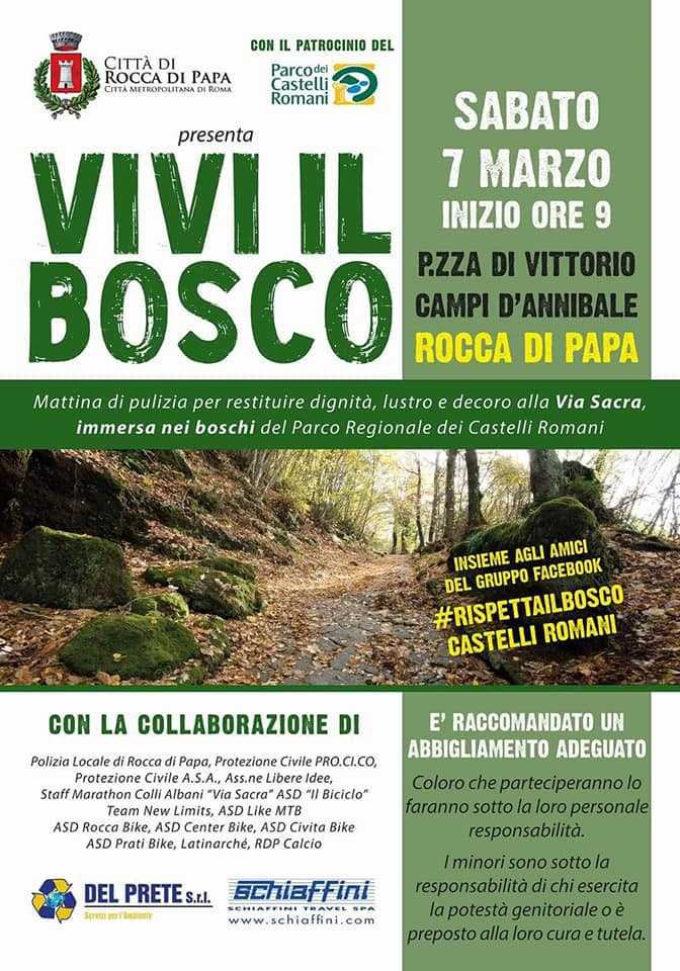 Vivi il Bosco: iniziativa di pulizia e valorizzazione della Via Sacra