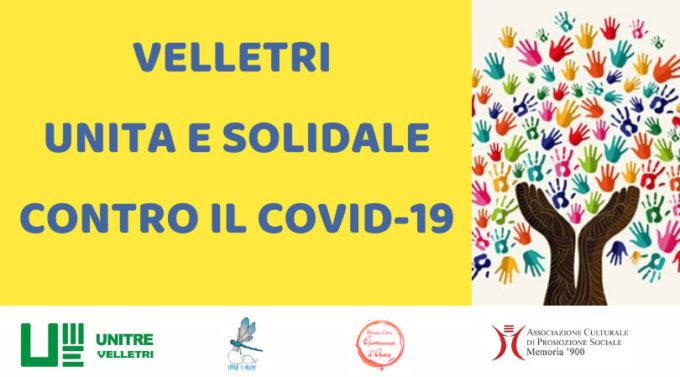 Velletri unita e solidale contro il Covid-19