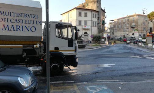 Sanificazione strade del territorio di Marino