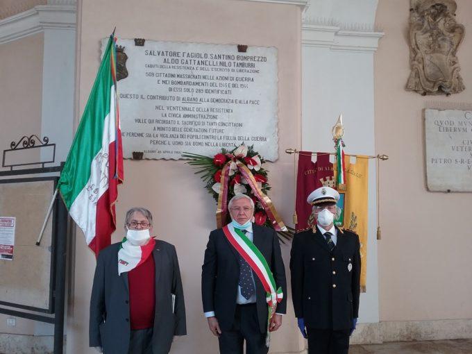 Albano Laziale, celebrazioni Festa della Liberazione nel rispetto delle disposizioni per l'emergenza Covid-19