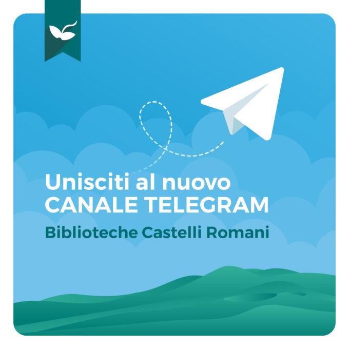 Biblioteche Castelli Romani: la nuova piazza virtuale è Telegram!