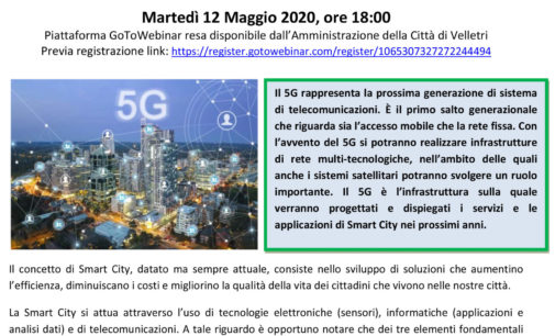 Velletri2030 – 5G INNOVAZIONE DIGITALE E SMART CITY