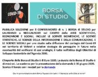 BANDO BORSA DI STUDIO VELLETRI 2030 – SCADENZA 30 GIUGNO 2020