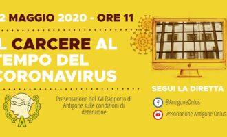 """Venerdì 22 maggio con Antigone: """"Il carcere al tempo del coronavirus"""""""