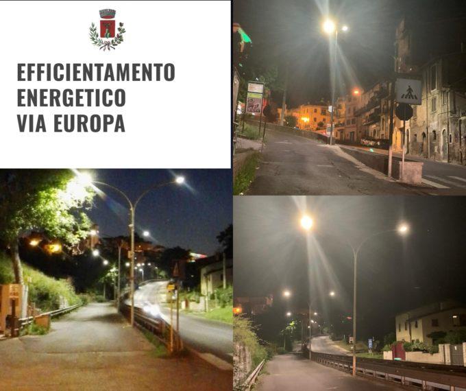 Labico, completati i lavori di potenziamento ed efficientamento energetico su via Europa
