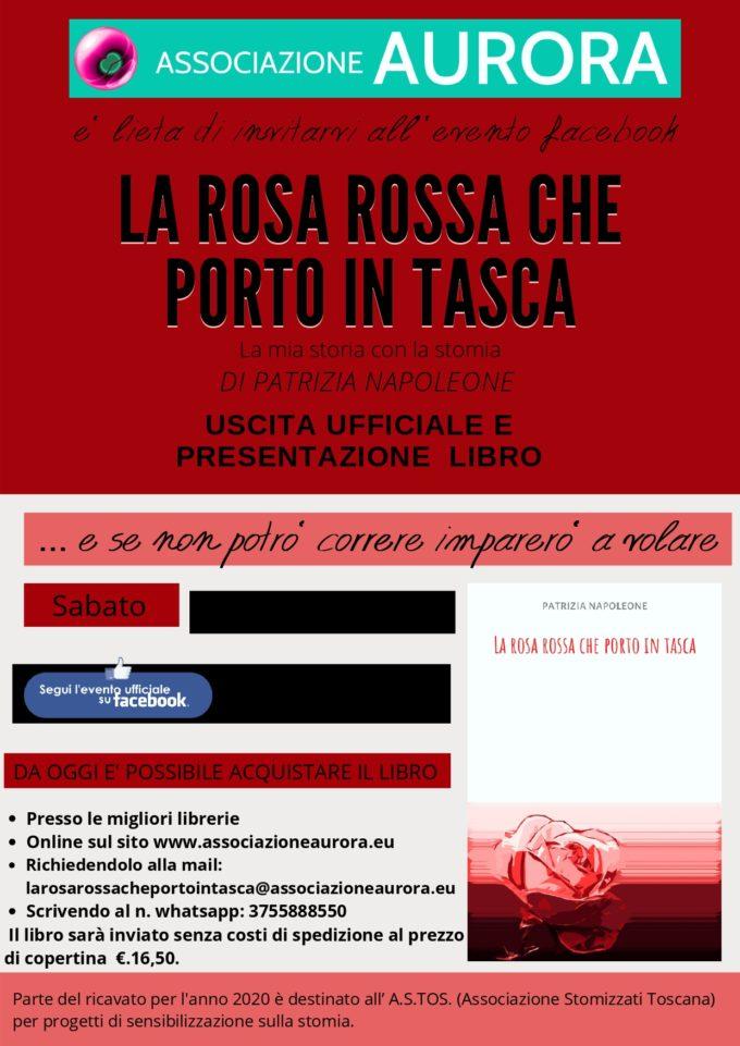 """""""La rosa rossa…."""" di Patrizia Napoleone a favore di progetti sulla stomia"""